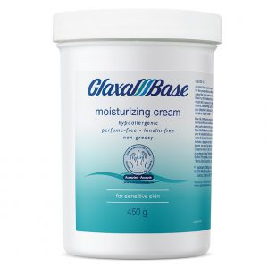 glaxal base Moisturizing Cream white bottle teal label 450g